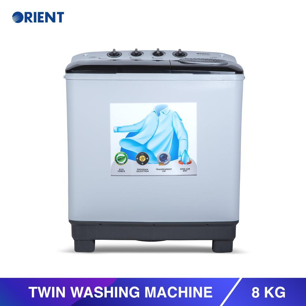 Orient Twin 8 Modern White Washing Machine